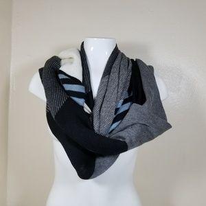 J. Jill scraf wrap striped mix pattern wool